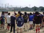 大阪朝高ラグビー部後輩と合同練習