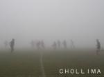 濃霧の中での練習