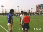 試合前のコイントス(vs 摂南大学)